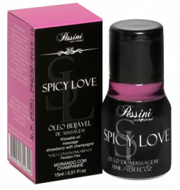 Spicy Love Gel Morango c/ Champanhe Hot 15ml