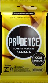 Preservativo Prudence Cores e Sabores Banana - 3 un.