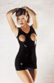 Mini vestido em Látex Provocante - Sharon Sloane