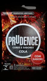 Preservativo Prudence Cores e Sabores Cola - 3 un.