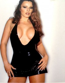 Mini vestido em Látex Sensual - Sharon Sloane