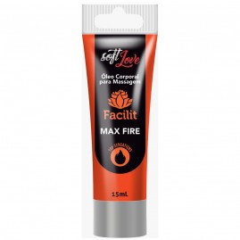 Gel Anestésico Facilit Max Fire Hot  4 x 1 - 15ml
