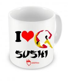 Caneca I Love Sushi...