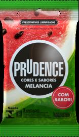 Preservativo Prudence Cores e Sabores Melancia - 3 un.