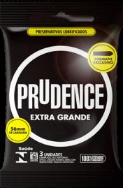 Preservativo Prudence Extra Grande - 3 un.
