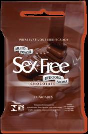 Preservativo Sex Free Chocolate - 3 un.