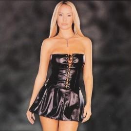 Mini vestido em Látex Provocante - Joyce Jones