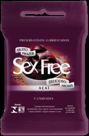 Preservativo Sex Free Açai - 3 un.