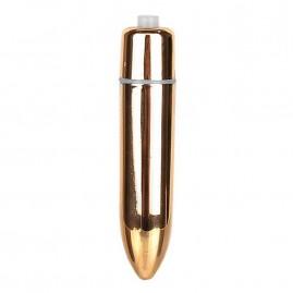 Vibrador Power Bullet Plus Capsula Viber 8,5cm Dourado