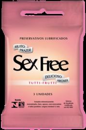 Preservativo Sex Free Tutti Fruti - 3 un.