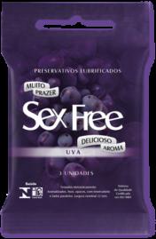 Preservativo Sex Free Uva - 3 un.