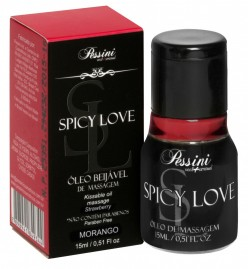 Spicy Love Gel Comestível Morango Hot 15ml