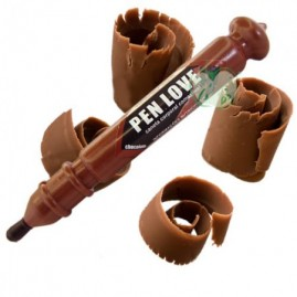 Pen Love Caneta Beijável Chocolate