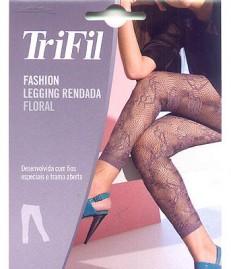 Meia Calça Tipo Legging Renda Floral Trifil