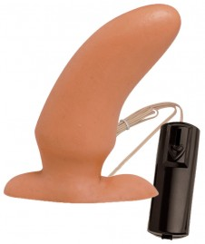 Plug Big Butt com Vibro Bullet 14,0 x 4,5cm